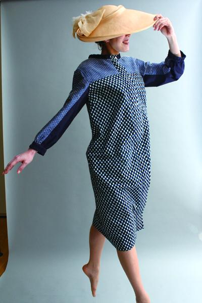 久留米絣ドレス・パーカー
